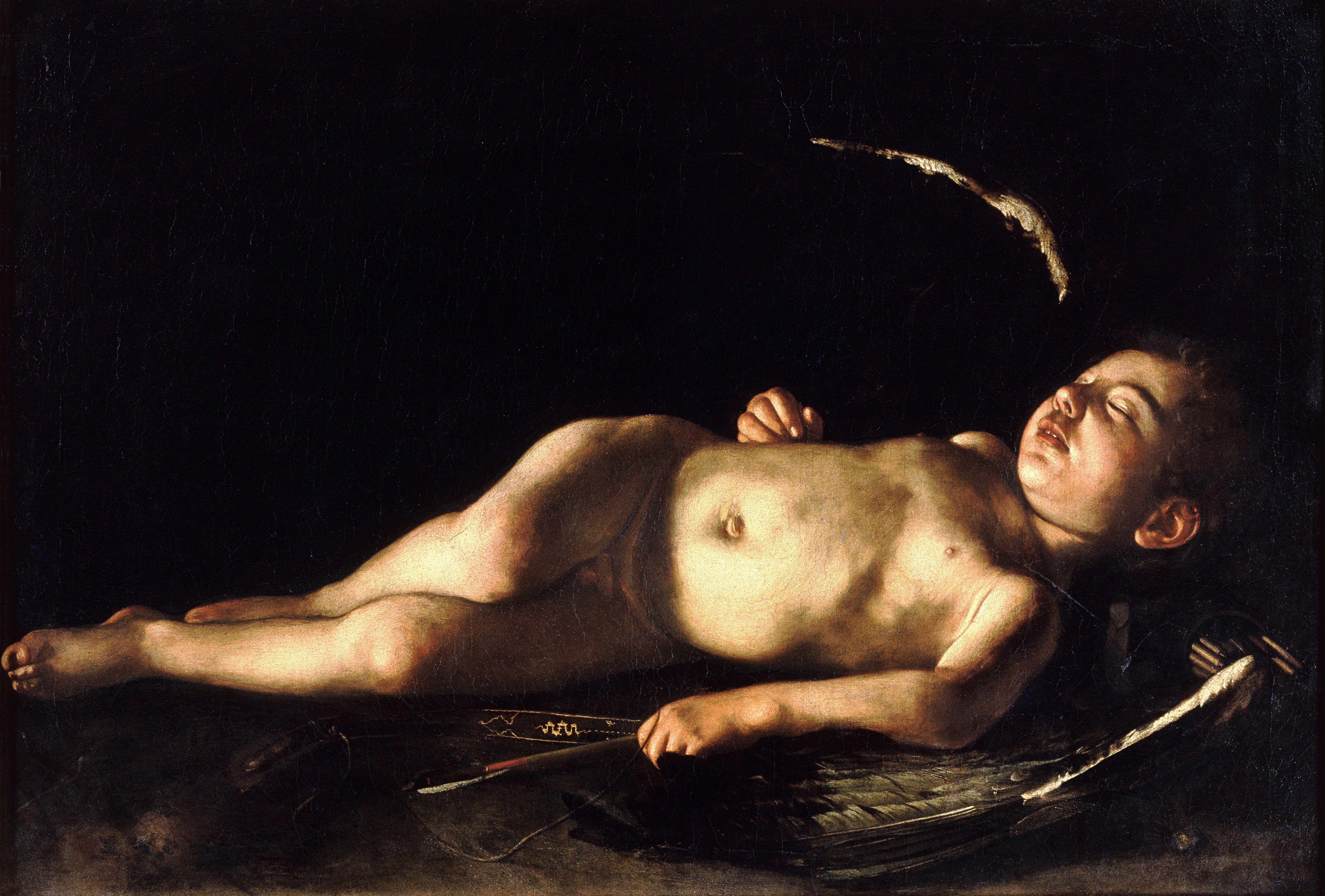 Sleeping Cupid Caravaggio (1608)