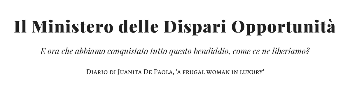 Il Ministero delle Dispari Opportunità - Diario di una donna frugale che lavora nel lusso